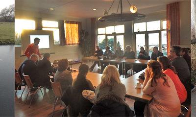 Vergaderen én een ijswandeling in het Reeuwijkse plassengebied