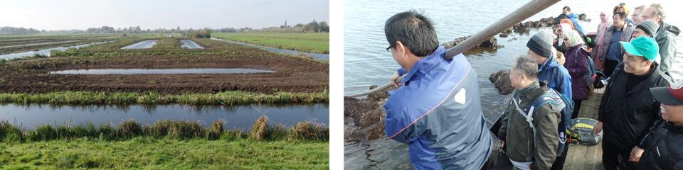 Medewerkers van Indonesisch ministerie bezoeken wetland