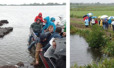 Geslaagde wetland-excursie in zware regen
