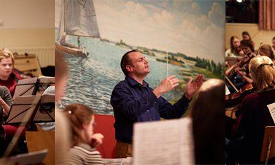 Kamerorkest NESKO oefent bij Watersnip