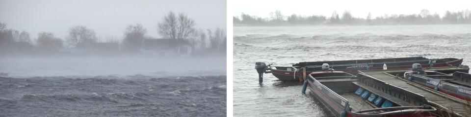 Storm in het Reeuwijkse plassengebied