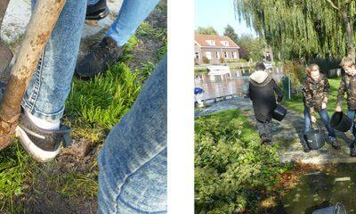 Tegel eruit, plant erin op kinderklimaattop in Reeuwijk