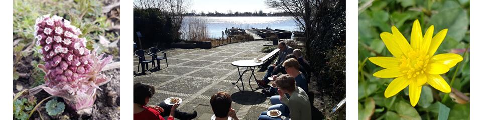Vergaderen aan het water in de lentezon